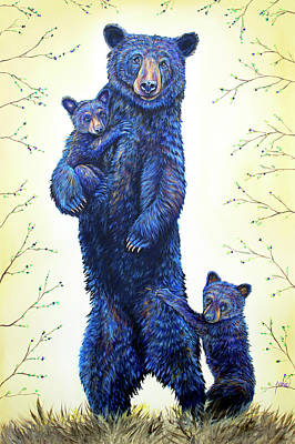 Painting - Grandma Bear by Teshia Art