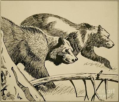 Linda Simon Wall Decor Painting - Grandma B's Bears by Linda Simon