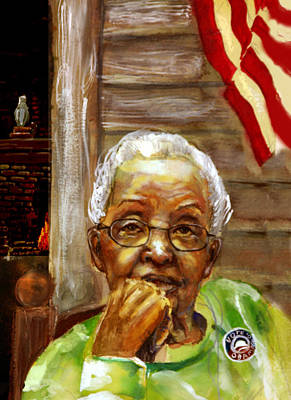 Grandma For Obama Art Print