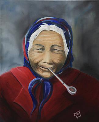 Aleut Painting - Grandma  by Rhonda Shelford Jansen  - RSJ