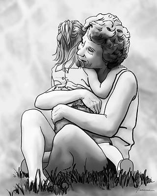 Digital Art - Grandma Hug by Francesa Miller