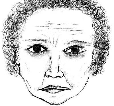 Drawing - Grandma by Matt Harang