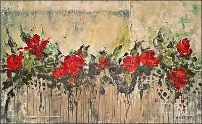 Painting - Grandma Roses by AmaS Art