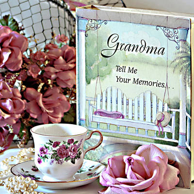 Photograph - Grandma Tell Me Your Memories... by Sherry Hallemeier