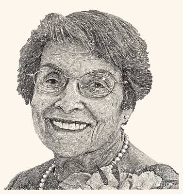 Drawing - Grandma Volpicelli by Michael Volpicelli