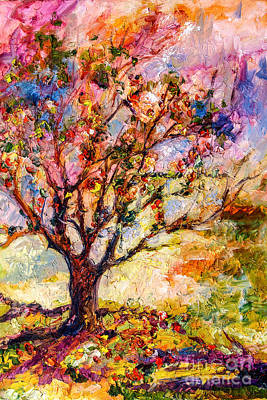 Painting - Grandmas Apple Tree Oil Painting by Ginette Callaway