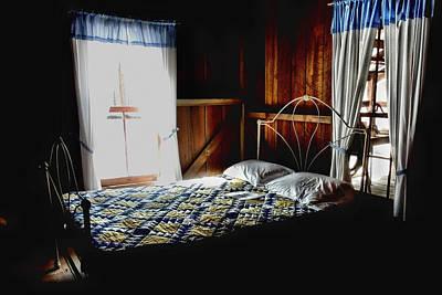 Grandma's Bed Room Art Print by Laura Ragland