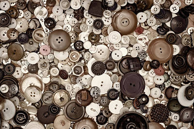 Bone Photograph - Grandmas Buttons by Scott Norris