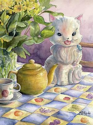 Teapot Painting - Grandma's Cookie Jar by Malanda Warner