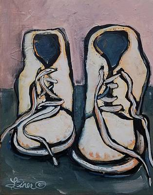 Painting - Grandma's First Shoes by Terri Einer