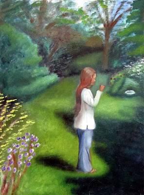 Painting - Grandmas Garden by Alima Newton
