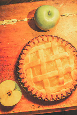 Counter Photograph - Grandmas Homemade Apple Tart by Jorgo Photography - Wall Art Gallery