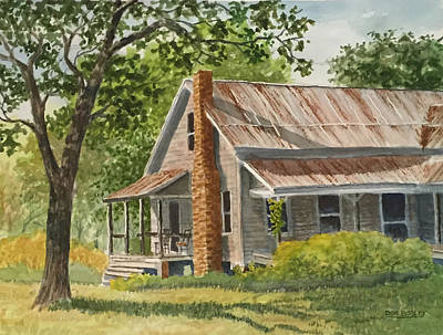 Painting - Grandma's House by Don Bosley