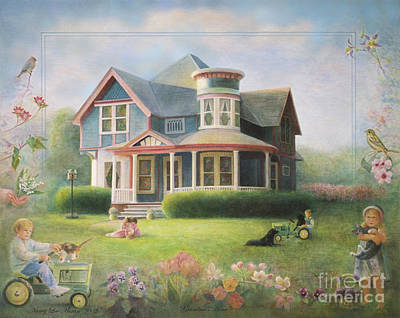 Lily Of The Valley Painting - Grandma's House by Nancy Lee Moran