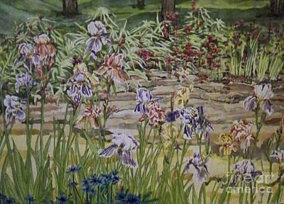Painting - Grandmas' Iris Garden by Jill Annette Johnson