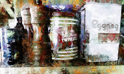 Grandma's Kitchen Tins Art Print