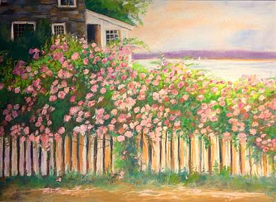 Pastel - Grandmas Lake House by Janet Visser