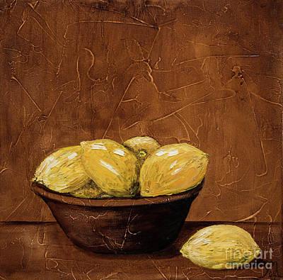 Lemon Painting - Grandma's Lemons by Jodi Monahan