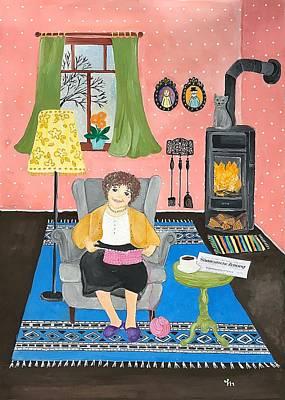 Painting - Grandma's New Rug by Stefanie Stark