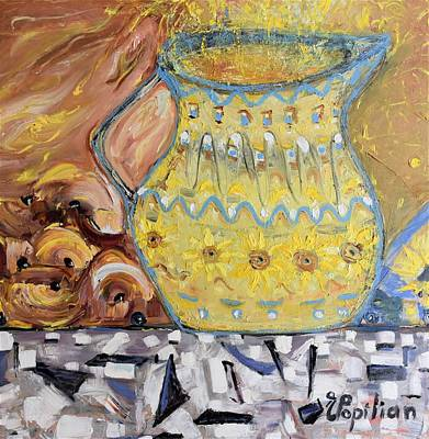 Painting - Grandma's Pitcher by Evelina Popilian