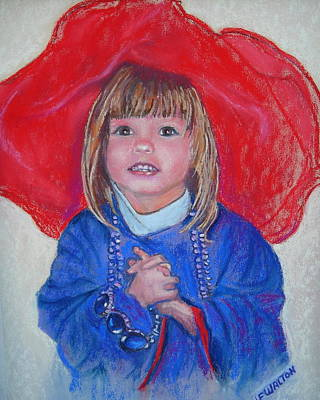 Painting - Grandmas Red Hat Angel by Judy Fischer Walton