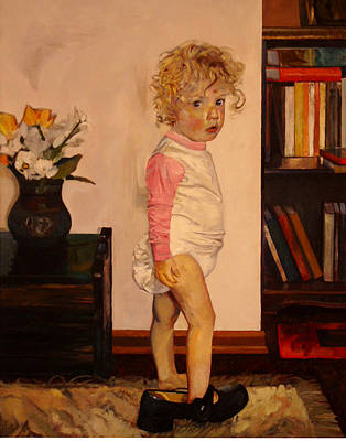 Painting - Grandma's Shoe by Tim  Heimdal
