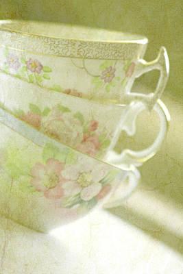 Vintage Teacup Photograph - Grandma's Teacups by Bonnie Bruno