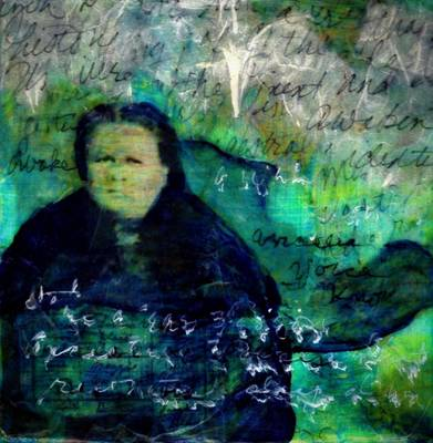 Mixed Media - Grandmother Maggie-study by Cora Marshall