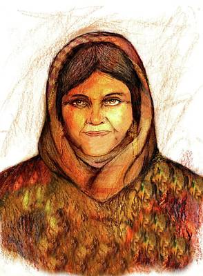 Pastel - Grandmother Noora by Roger Hanson
