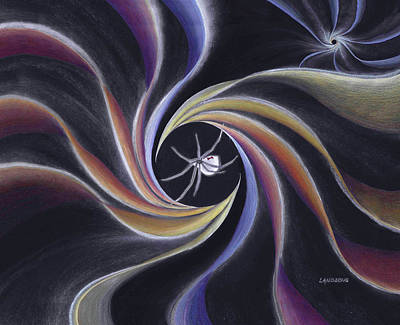 Painting - Grandmother Spider Weaving the Universe by Robin Aisha Landsong