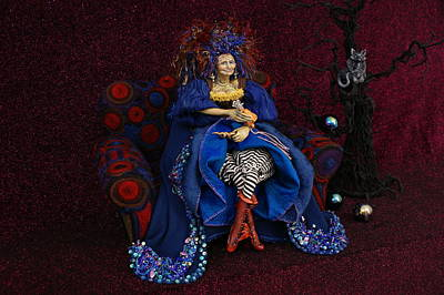 Mixed Media - Grandmother Witch by Judy Henninger