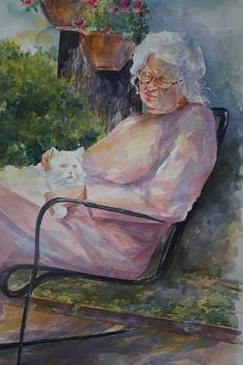 Painting - Grandmotherly Love by Gloria Turner