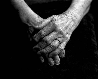 Grandmother's Hands Art Print by Todd Fox
