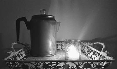 Grandmothers Vintage Coffee Pot Art Print