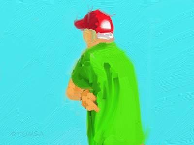 Digital Art - Grandpa by Bill Tomsa