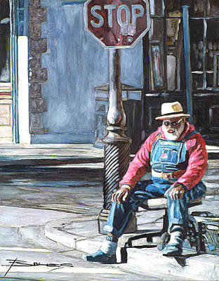 Jackson Square Painting - Grandpa Elliot On The Corner Of Royal by John Boles