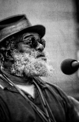 Blue Photograph - Grandpa Elliott In Black And White by Greg and Chrystal Mimbs