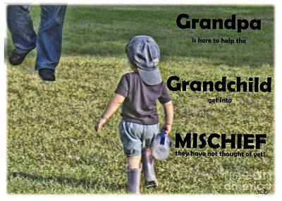 Digital Art - Grandpa Helps With Mischief by Sandra Clark