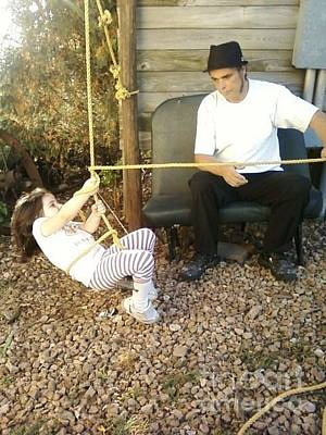 Photograph - Grandpa Made A Swing by Elizabeth Krokson