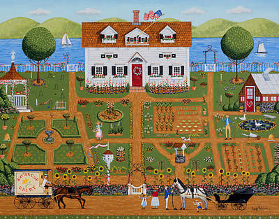Painting - Grandparents Garden by Joseph Holodook