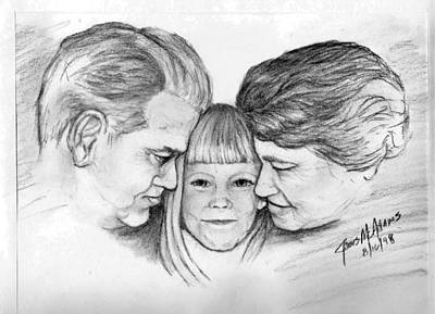 Drawing - Grandparents by James McAdams