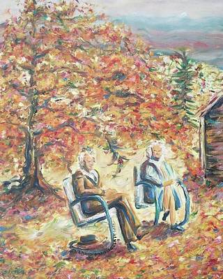 New Hampshire Artist Painting - Grandparents by Suzanne  Marie Leclair