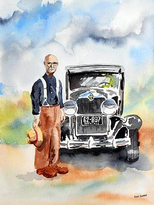 Painting - Grandpa's Chevy by Richard Zunkel
