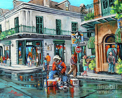 New Orleans Artist Painting - Grandpas Corner by Dianne Parks