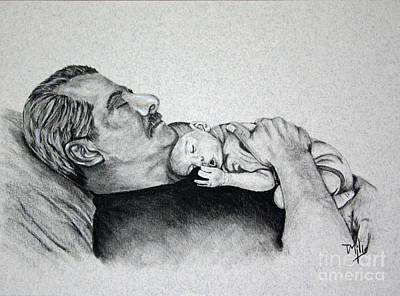 Drawing - Grandpas Love by Terri Mills