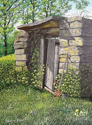 Painting - Grandpa's Old Root Cellar by Norm Starks