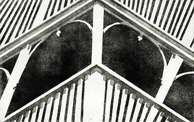 Lincoln Memorial Drawing - Grandpa's Porch by John Grazier