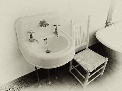 Bathroom Sinks Photograph - Grandpa's Sink by Tony Grider