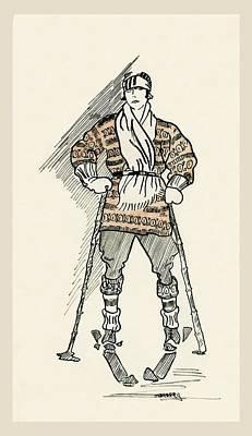 Grandpa's Skier Art Print