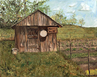 Painting - Grandpa's Smokehouse by Helen Eaton